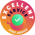 """We took the time to personally and anonymously check each and every company's customer service.  The """"Badge of excellence"""" was awarded to hosting companies that complied with HostAdvice's high standards of customer service, implying that the service proved to be prompt, efficient, insightful and most of all, helpful."""
